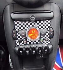 MITTELKONSOLE EINSATZ CHECKERED FLAG für MINI COOPER R55 CLUBMAN R56 R57 R58 R59
