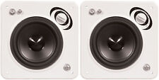 """2 x PhaseTech CI15 Black 3"""" In-Wall Square Speaker 120W 8Ohm Home Audio"""