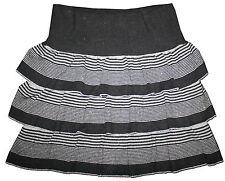 WITCHERY Size Small Soft and Warm Metallic Knit Tiered Mini Skirt