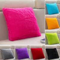 Luxury Fluffy Cushion Covers Fur Furry Soft Pillow Case Plush Bed Home Decor