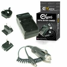 Ex-Pro® NP-48 BC48 Travel Battery Charger UK USA Canada Europe for Fujifilm XQ1