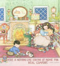 Jane Austen-Staying At Home-Handcrafted Fridge Magnet-w/Mary Engelbreit art