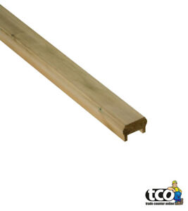 Easy Fit Timber Decking Handrail / Baserail | Quality Pine | 1.8m / 1800mm