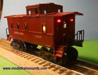 O Scale Lionel lighted Caboose:  On-board Battery Operated with Switch & 3 LED