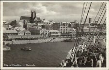 Hamilton Bermuda From Ship Real Photo Postcard