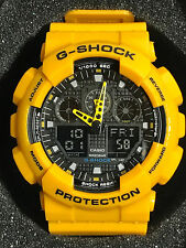 Casio G‑Shock Men's GA100A‑9A Digital Watch, Yellow