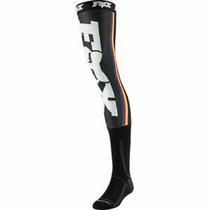 Fox Adults Knee-Brace Socks Pair Black Mx motocross enduro size Large Uk 9-12