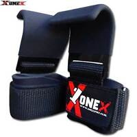 GEL Padded Weight Lifting Training Wrap Gym Straps Hand Bar Wrist Support Hooks
