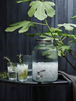 Glas mit Zapfhahn 5L Getränkespender Wasserspender Saft Bowle mit Ständer