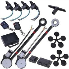 Electric 2 Power Motor Window Roll Up + 4 Door Lock Conversion Kit For Car Truck