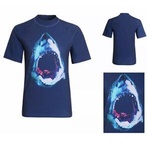 Ex-Next Boys Sun Vests Swim Rash Protect Top UPF 50 T-Shirt Childrens Navy Blue