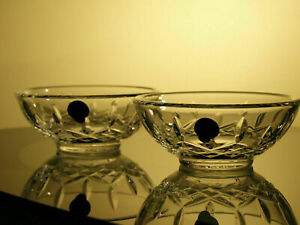 """Waterford Lismore 4"""" Crystal Bowl Set of 2 Brand New"""