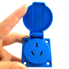 3 Pin AU Plug Power Inlet Socket Converters AC 250V 10A With Waterproof Cover