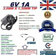 UK 6 V 1 A AC 100-240 V 50/60Hz Power Supply Adattatore Punta 3.5MMX1.35MM 3.5X1.35