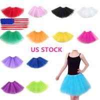 Women Adult Fancy Dancewear Tutu Pettiskirt Shirt Skirts Dance Fairy Tulle Dress
