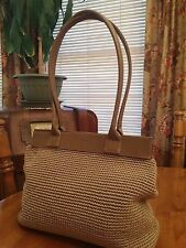 Beautiful The Sak Tan Crochet/Leather Handbag/Purse/Tote