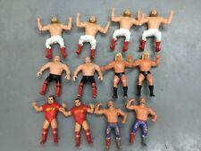 Lot  12  Vintage 1980s Titan Sports LJN WWF Rubber Wrestler Figures Iron Sheik