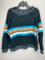 Wildfox Couture Womens Stripes Pullover Sweater Black
