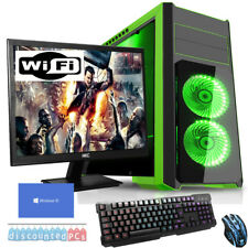 QUADCORE Desktop Gaming PC Computer Bundle 3.6GHz 16GB 2TB Windows 10 np3