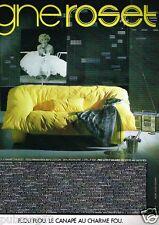 Publicité advertising 1983 Mobilier le canapé Ligne Roset... Marilyn Monroe