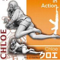 1/24 CHLOE Girls in Action Resin Model Kits Unpainted GK Unassembled