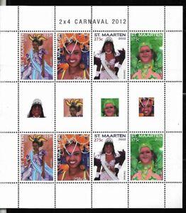 #1972 NETHERLAND(DUTCH) ANTILLES ST MARTEN 2012 CARNAVAL MINISHEET YV 76-9 MNH