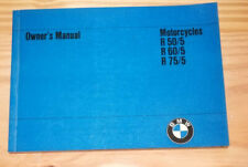 BMW Motorcycle  R 50/5, 60/5,  75/5  Owners Manual  NEW  Original from 1972
