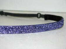 Thin Glitter Headband no slip adjustable Purple Sparkle non sweaty Hair Bands