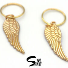NEW GOLD FEATHER WINGS Hair Rings For Tresses Braids Plaits Accessories 10/20Set