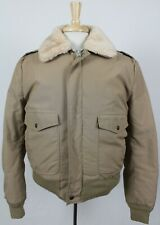 Schott Vintage Down Et Plume Talon Zip Fur Collar Bomber Jacket Medium A-2