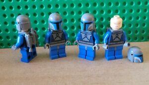 LEGO Star Wars 4 Mandalorian Death Watch Warrior Minifigures Lot from 7914, 9525