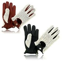 Men's Driving Gloves Chauffeur Leather Dress Fashion Top Classic Vintage Gloves