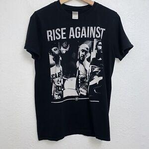 Rise Against Punk Rock Band Tee Black T-Shirt Short Sleeve Size Medium
