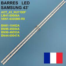 KIT 2 BARRE STRIP 28 LED TV SAMSUNG AOT-43-NU7100F V8N1-430SM0-R0