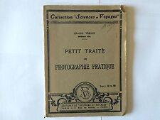 PETIT TRAITE DE PHOTOGRAPHIE PRATIQUE COLLECTION SCIENCES VOYAGES VERON ILLUST