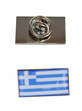 Greece Flag Tie Pin with free organza pouch