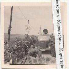 Foto Opel Blitz LKW Kennung 396469 Belgien Soldaten 2 Wk WW2 (F2523