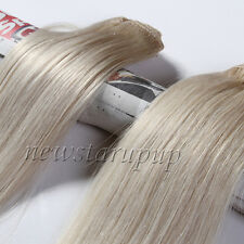 CLIP IN REAL HUMAN HAIR EXTENSIONS 7PCS FULL HEAD 15COLORS ANY LENGTH US