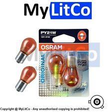 Osram Original Equipment PY21W 12v 21w BAU15s 7507-02B 581 Replacement Car Bulbs