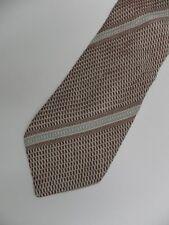 """Brown Beige Striped KENZO Woven Silk Tie 3.8"""" Wide 58"""" Long"""