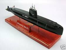 USS Nautilus SSN-571 Submarine Mahogany Kiln Dry Wood Model Small New