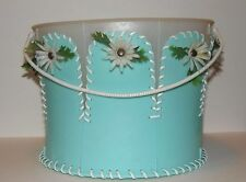 Vintage homemade craft bucket made from plastic pails 1970's