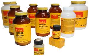 📷  Vintage Kodak Dark Room Film Developing Chemicals Lot - 10 Bottles  📷