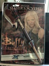 New HTF Factory X Prop Replica Buffy The Vampire Slayer Mini Miniature Scythe