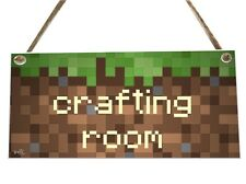 Computer Game Crafting Room Wooden Novelty Plaque Sign Gift fcp50