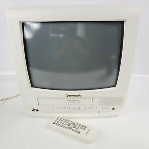 Vintage Panasonic PV-C1331W White TV VCR FM Combo RETRO STOP READ DESCRIPTION