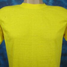 vintage 80s BLANK YELLOW SCREEN STARS PAPER THIN T-Shirt MEDIUM beach surf skate