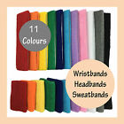 2 Wristbands + 1 Headband Sweat Band Sweatbands for Sport Tennis Gym Running