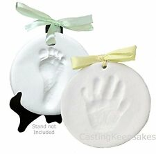 Clay Keepsake Handprint & Footprint Ornament Kit - Dries Stone Hard - No Bake