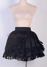 Gothic Black Lolita Lace & Satin Size S-6XL PUNK Layer NANA Mini Skirt RR g2779